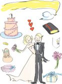 Wedding,Wedding Cake,Bride,...