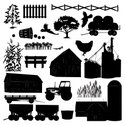 Farm,Silhouette,Tractor,Agric…