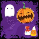 Halloween,Candy,Ghost,Cute,...