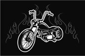 Motorcycle,Flame,Vector,Eng...