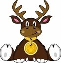 Animal,Reindeer,Cartoon,Cut...