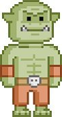 ork,Orc,Pixelated,Fantasy,A...