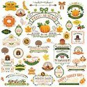 Thanksgiving,Badge,Label,De...