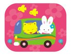 Cartoon,Cute,Animal,Car,Rab...