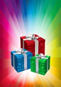 Gift Box,Rainbow,Birthday P...