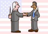 Politics,Cartoon,Handshake,...
