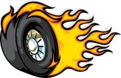 Wheel,Tire,Flame,Hot Rod,Sp...