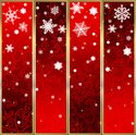 Vector,Snowflake,Red,Backgr...