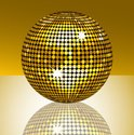 Disco Ball,Disco,Gold Color...
