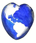 Earth,Heart Shape,Love,Wate...