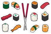 Sushi,Vector,Rice - Food St...