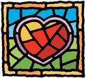Stained Glass,Heart Shape,V...