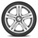 Wheel,Chrome,Alloy,Steel,Sp...