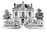 House,Engraving,Victorian ...