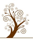 Spiral,Tree,Swirl,Shape,Cur...