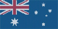 Knitting,Australian Flag,Wo...