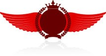 Crown,Wing,Red,Banner,Blank...