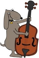 Dog,Violin,Double Bass,Bass...