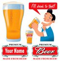 Beer - Alcohol,Sign,Pint Gl...