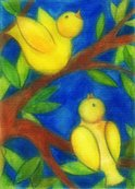 Watercolor Painting,Canary,...