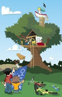 Tree House,Child,Park - Man...