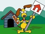 Kennel,Dog,House,Cartoon,Re...