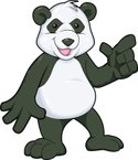 Panda,Bear,Cartoon,Mascot,A...