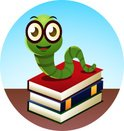 Studying,Worm,Book,Cartoon,...