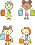 Child,Shopping Bag,Buying,S...