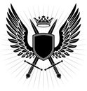 Wing,Sword,Coat Of Arms,Shi...