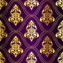 India,Pattern,Purple,Silk,A...