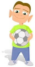 Little Boys,Ball,Cartoon,Le...