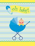 Baby,Stork,Baby Carriage,An...