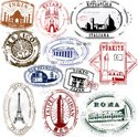 Travel,Rubber Stamp,Retro R...