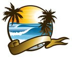 Palm Tree,Surf,Insignia,Sun...