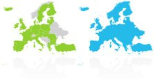 Map,Europe,Nordic Countries...