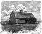 Engraved Image,House,Etchin...