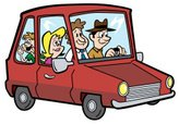 Car Pooling,Car,Cartoon,Dri...