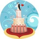 Wedding,Cake,Bride,Vector,C...