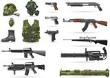 Gun,Symbol,Military,Machine...