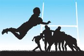 Rugby,Silhouette,Sports Tea...