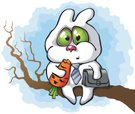 Cartoon,Bare Tree,Rabbit - ...