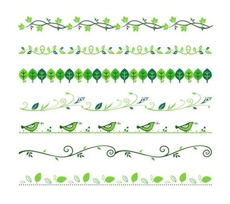 Vector Set of Floral Divider