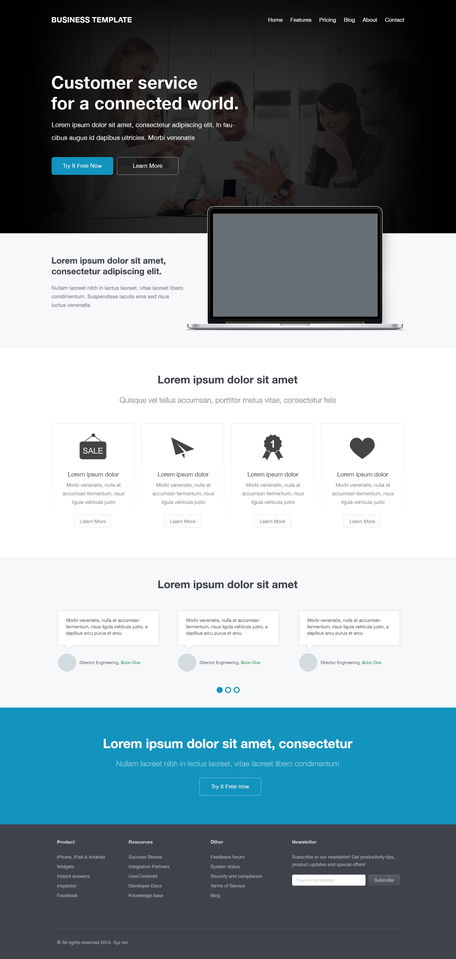 Gratis Corporate Website Template