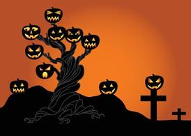 Halloween arbre graphique