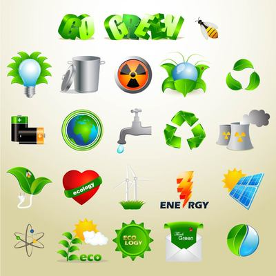 Exclusive Green Ecology Icon Set