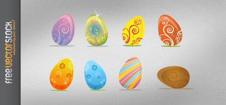 Beautiful Easter Eggs with Ornaments