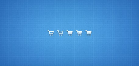 Shopping Cart ikoner (PSD/PNG)