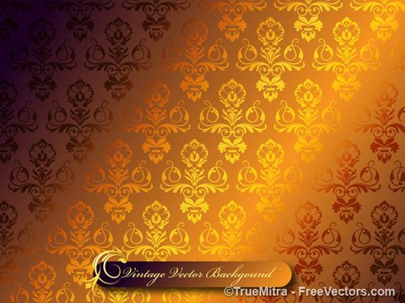 Damask Vector Background Pattern