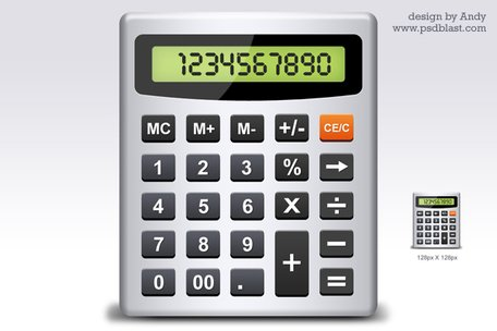 Calculatorpictogram PSD
